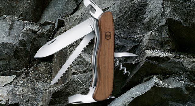 Складной швейцарский нож Victorinox Forester Wood, 111 мм, 10 функций, деревянная рукоять (0.8361.63)