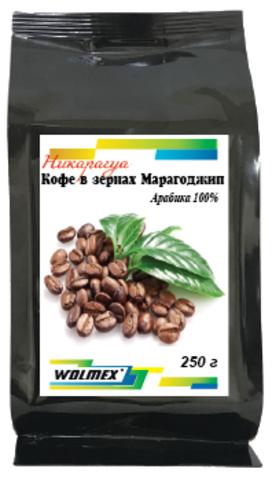 Кофе в зернах Никарагуа Марагоджип, обжаренный,Wolmex, 250 гр