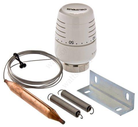 Термостатическая головка с выносным накладным датчиком диапазон регулировки 20 - 60°C, длина трубки 2 м