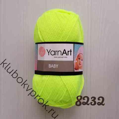 YARNART BABY 8232, Салатовый неон