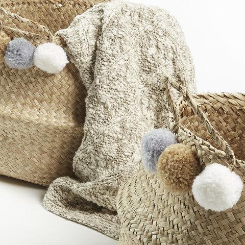Комплект 2 корзины Sofly из морской травы