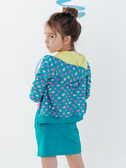 Юбка для девочки бирюзовая с эластичным поясом купить