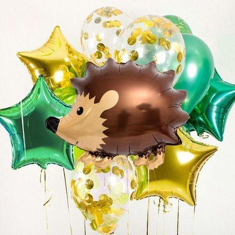 Фонтан из воздушных шаров Ежик