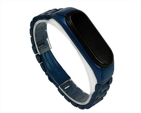 Ремешок для Xiaomi Mi Band 3/4 | сталь синий