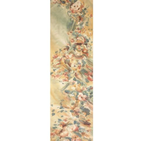 Шелковый шарф батик Жемчужина беж С-57