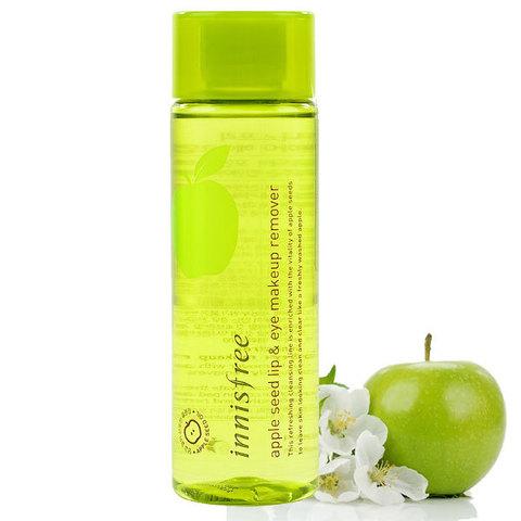 Innisfree Apple Seed Lip And Eye Make Up Remover ремувер с экстрактом яблока для снятия макияжа с губ и глаз