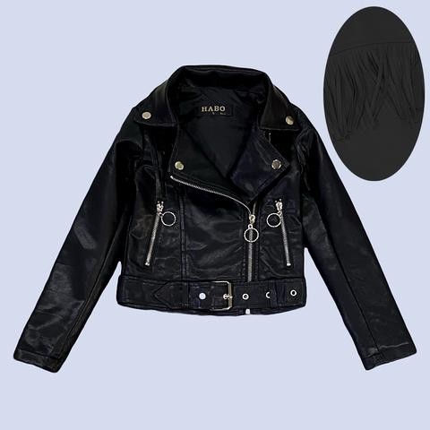 Куртка экокожа девочке (5-10) 210205-J7101