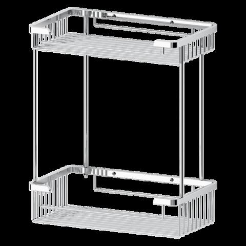 Полочка-решетка 2-х уровневая прямоугольная 26х26 см RYNA   RYN023 FBS