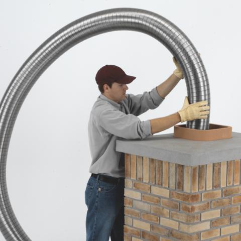 Полужесткий воздуховод из нержавеющей стали ф120 (1м)