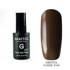 Grattol, Гель-лак 143, Black Coffee, 9 мл
