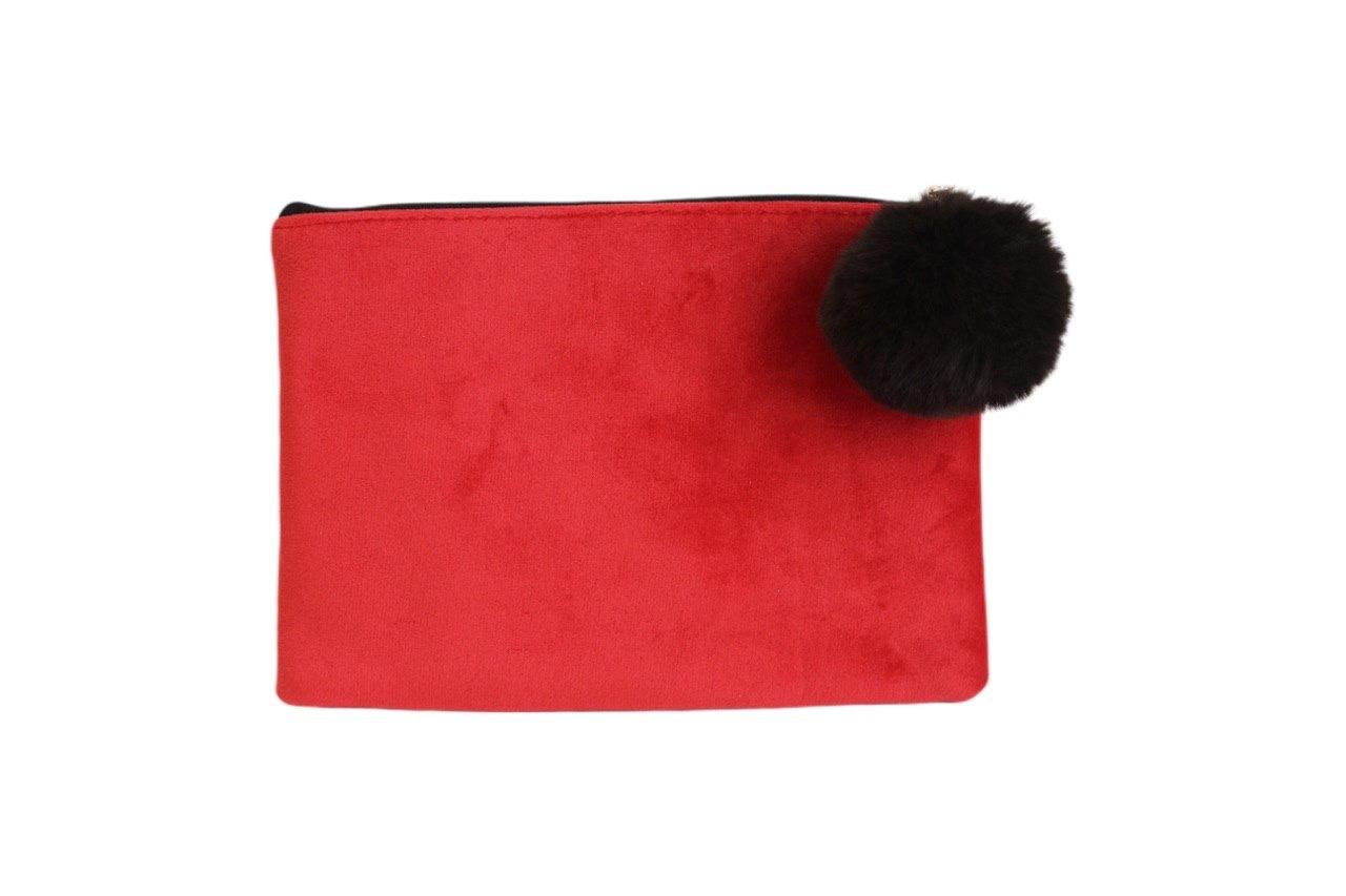 Косметичка - клатч бархатная Velvet Red