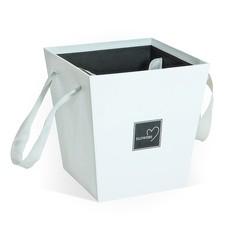 Коробка Для Цветов «Трапеция» Белая, 17см*17см*18см, 1 шт.