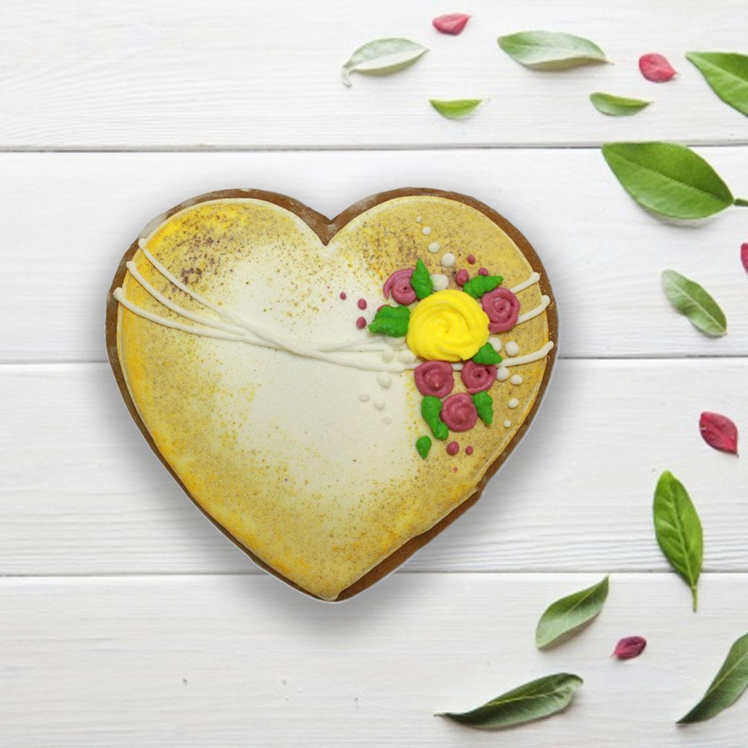 Фотография Пряник «Сердце №10» / 50 гр купить в магазине Афлора