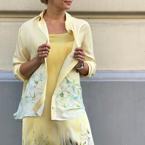 Рубашка женская из дикого шелка