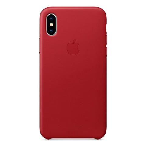 Чехол iPhone X/XS Leather Case /red/
