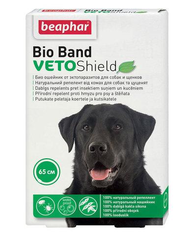 Beaphar Bio Band Veto Shield ошейник для собак и щенков от блох на нат. маслах на 4 месяца 65 см