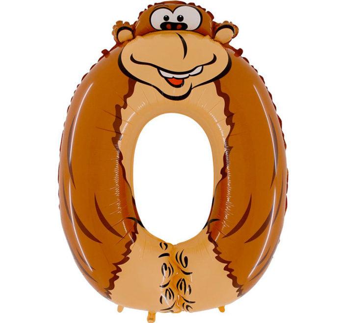 Цифра 0 - обезьянка