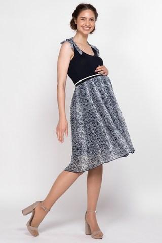 Платье для беременных 10128 темно-синий