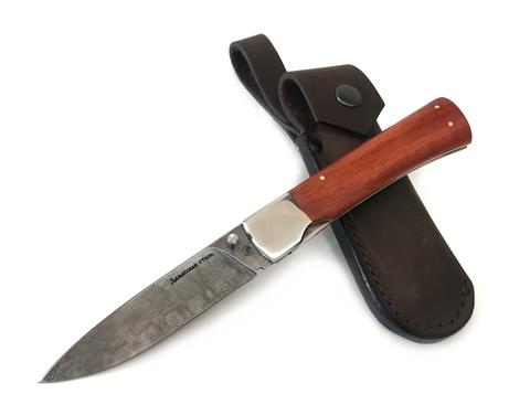 Нож Ласка-М, складной, дамасская сталь, дерево, ИП Фурсач