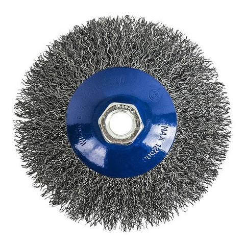 Кордщетка для МШУ радиальная мягкая ПРАКТИКА 115 мм М14 (1шт.) блистер (773-354)