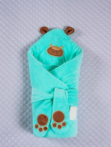 Зимний конверт-одеяло Little Bear бирюза
