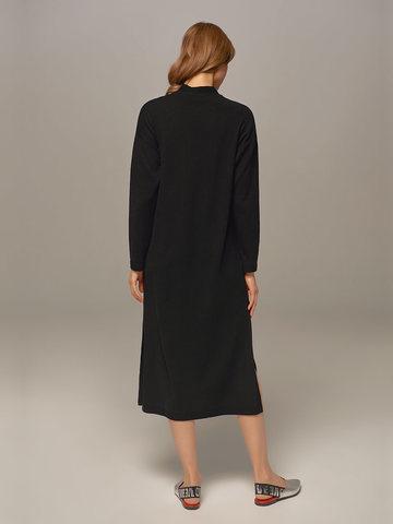 Женское платье черного цвета из шерсти и кашемира - фото 3