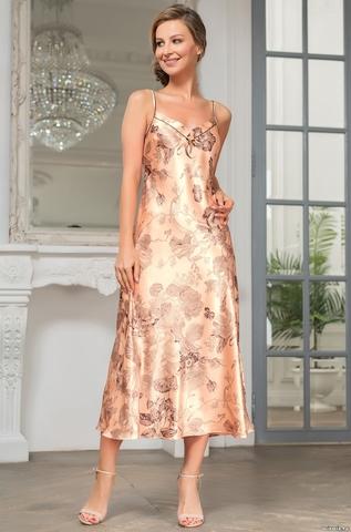 Сорочка женская шелковая  Mia-Amore LETUAL Летуаль  3434 роза