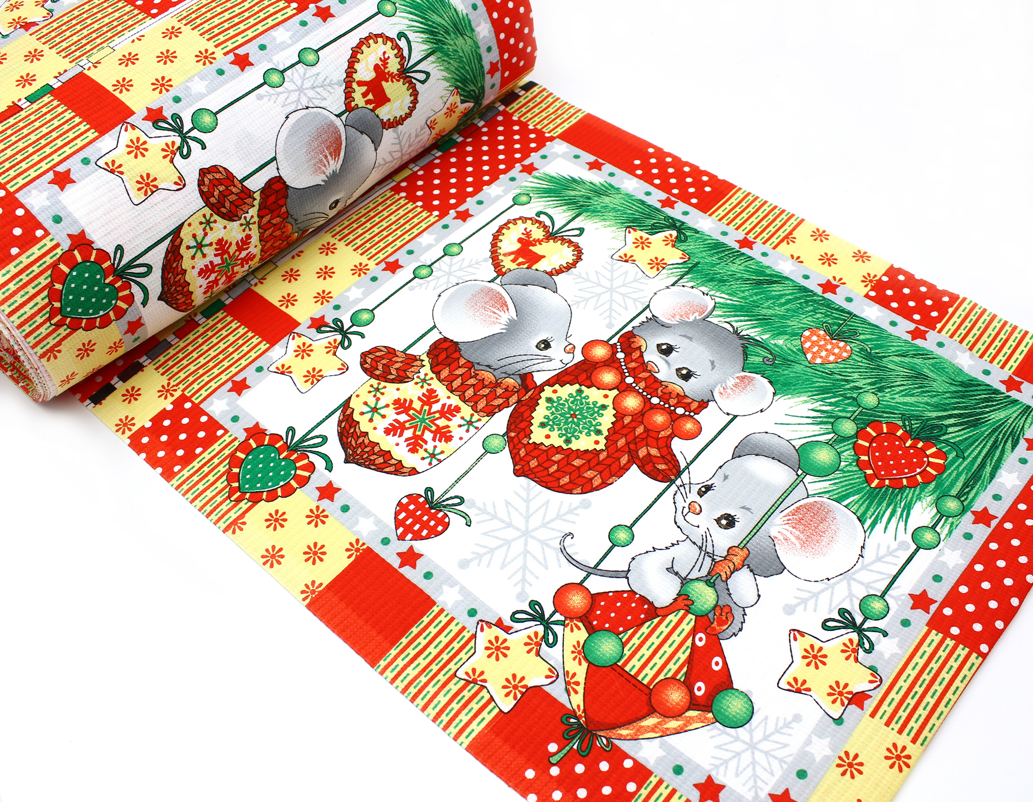 Купон для полотенца(вафельная ткань),веселые мышата