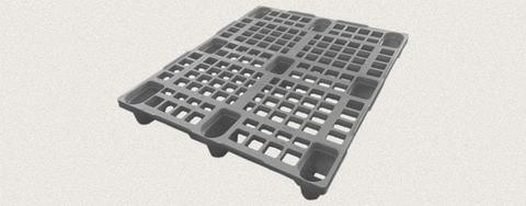 Поддон пластиковый перфорированный 1200x1000x150 мм. Цвет: Серый