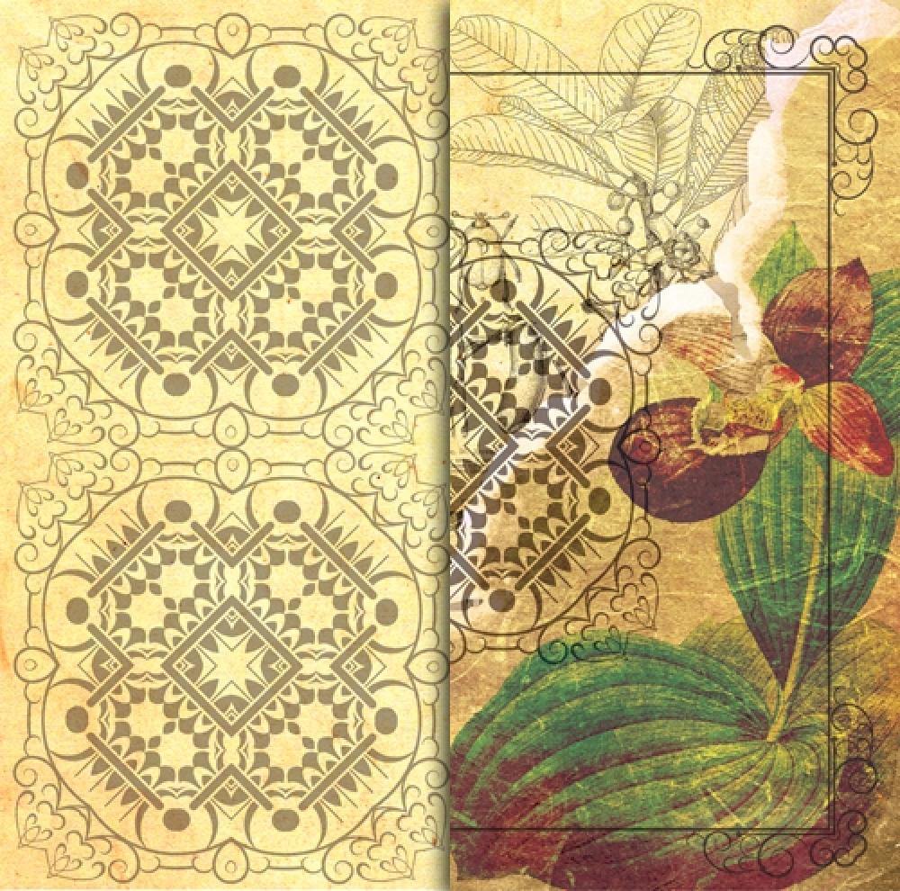 Бумага для скрапбукинга Венерин башмачок