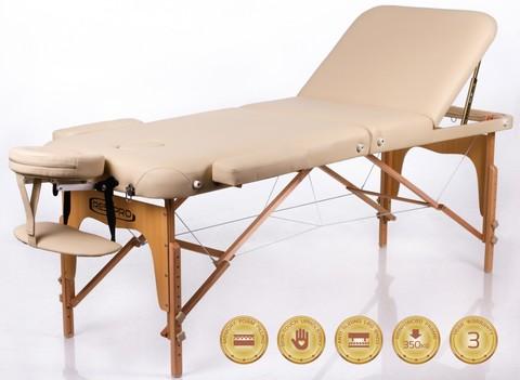 Массажный стол деревянный 3-хсекционный RESTPRO Memory 3