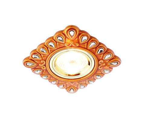 Встраиваемый потолочный точечный светильник D5550 SB/CL бронза прозрачный керамика ЛАМПА 5вт в КОМПЛЕКТЕ