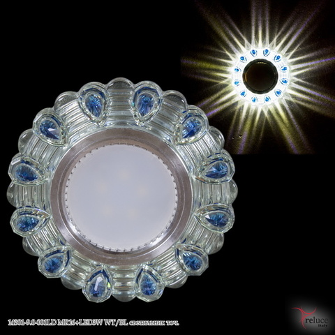 14301-9.0-001LD MR16+LED3W WT/BL светильник точ.