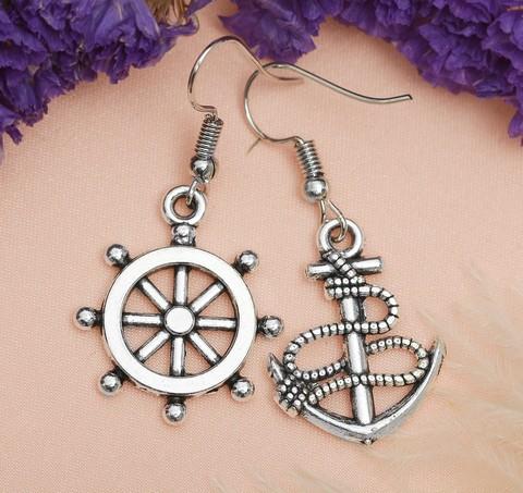 Купить серьги в морском стиле - Магазин тельняшек.ру 8-800-700-93-18Серьги