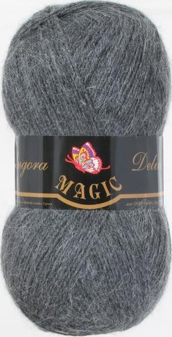 Пряжа Angora Delicate Magic 1130 Темно-серый меланж -