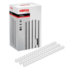 Пружины для переплета пластиковые Promega office 19 мм белые (100 штук в упаковке)