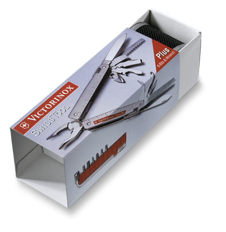 Мультитул Victorinox SwissTool Plus 38, 115 мм, 38 функций, кожаный чехол