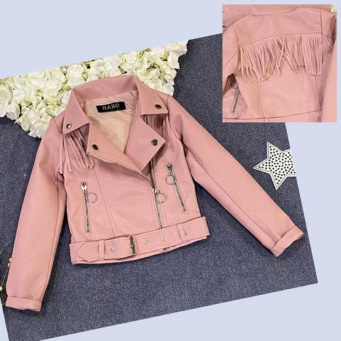 Куртка экокожа девочке (5-10) 210205-J7102