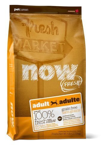 купить  Now Fresh adult recipe grain free сухой беззерновой корм для взрослых собак с индейкой, уткой и овощами