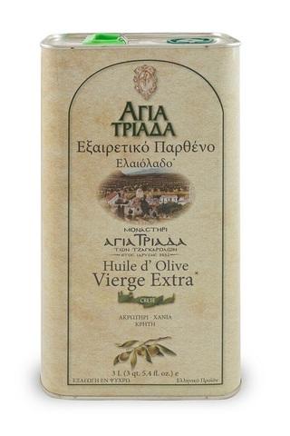 Оливковое масло греческое Agia Triada 3 л с острова Крит