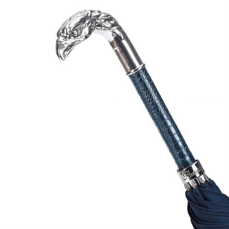 Зонт-трость Pasotti Blue Umbrella, Silver Eagle, Италия