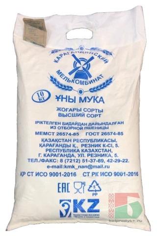 Мука пшеничная хлебопекарная 10кг. Караганда