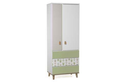 Шкаф LX 33 зеленый-принт