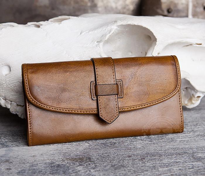 WL296-2 Мужской кошелек клатч из натуральной кожи фото 02