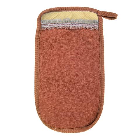Мочалка «Королевский пилинг», рукавица с  тесьмой,  14,5х25 см