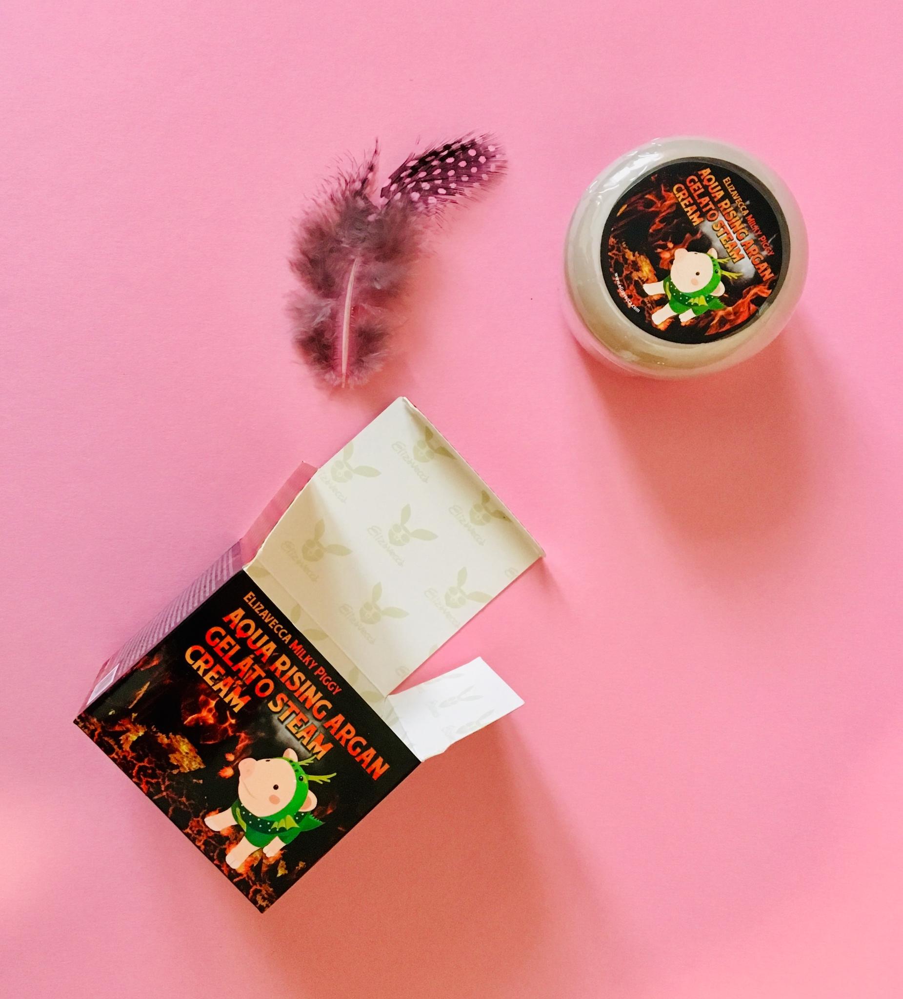 Питательный крем для лица с аргановым маслом Elizavecca Aqua Rising Argan Gelato Steam Cream