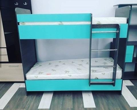 Кровать двухъярусная ДАЙСЕН  правая 1600-800 /1632*1604*952/