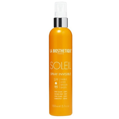 La Biosthetique Methode Soleil для лица и тела: Водостойкоий солнцезащитный спрей с SPF 6 для базовой защиты (Spray Invisible SPF 6 Corps), 150мл