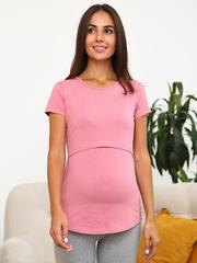 Мамаландия. Футболка для беременных и кормящих, сухая роза