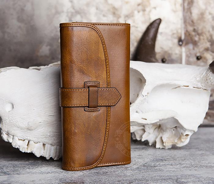 WL296-2 Мужской кошелек клатч из натуральной кожи фото 03